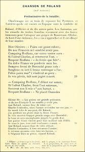 La Chanson De Roland à La Française