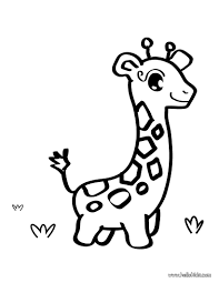 Giraffe Toy Coloring Page Shape For