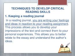 critical reading 17 techniques to develop critical reading skills