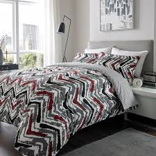 asab 100 brushed cotton modern luxury bed duvet quilt cover hotel quality bedding with pillow cases king duvet set chevron wine flubit