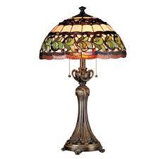 dale tiffany 26 in aldridge antique gold bronze finish table lamp with tiffany art glass