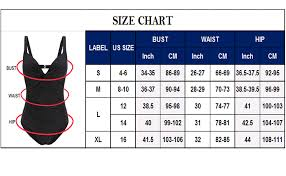 Us Swimsuit Size Chart Advoult Bathing Suits For Women One Piece Tummy Control Swimwear Retro Push Up Swimsuits