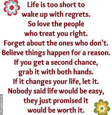 Lifes Too Short Quotes Fascinating Life Is Too Short To Wake Up With Regrets Pictures Photos And