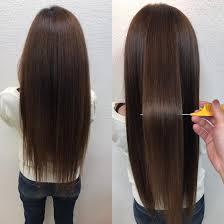 髪質改善縮毛矯正スーパーロングのお客様 髪質改善no1