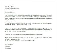 Free Example Of Resignation Letters Letter Of Resignation Templates Template Business