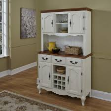 White Kitchen Hutch Cabinet Kitchen Kitchen Hutch Buffet With Artistic Hand Made Country