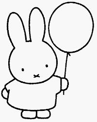 Nijntje Met Ballon Collectie Kleurplaat Koe Nijntje Archidev