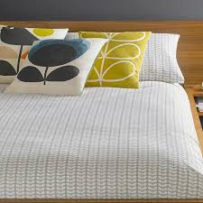 orla kiely tiny stem beige grey bedding