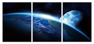Vícedílný Obraz Pohled Z Vesmíru Na Zeď Na Posterscz