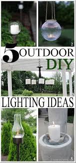 outdoor table lighting ideas. 5 Outdoor DIY Lighting Ideas For Your Porch, Deck, Table, Pool, Or Yard Table D