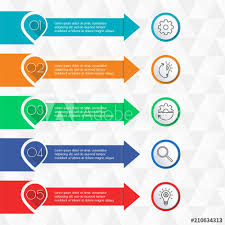 Website Design Workflow Chart 5 Steps Infographics With Arrows For Business Presentation