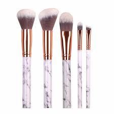 chileelove new arrival 10 pcs marble stripe pro makeup brushes kits blush bulk powder eye shadow highlight repair capacity brush in makeup scissors from