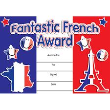 French Merit Certificates Fantastic French Award Little Linguist