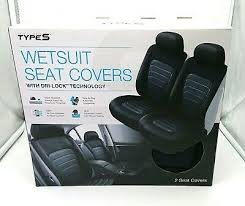 types wetsuit seat covers set of black