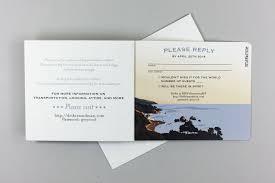 Beach Invitation Big Sur California Beach 3pg Livret Booklet Wedding Invitation With Tear Off Rsvp Postcard And A7 Envelopes Te1