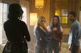 the gifted l r natalie alyn lind jamie chung and sean teale in the enemy of my enemy winter premiere of the gifted airing tuesday jan