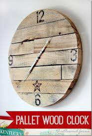 how to make a pallet wood clock diy
