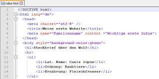 Kurs: Gestalten einer Webseite mit HTML