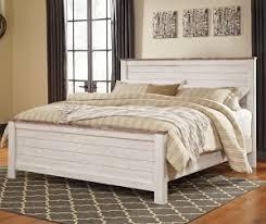 whitewash furniture. Ashley Furniture Willowton Queen Panel Bed In Whitewash