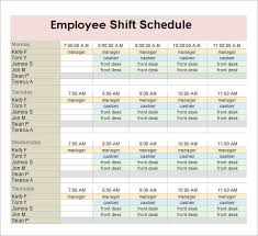 Sample Of Schedules Sample Employee Schedules Magdalene Project Org