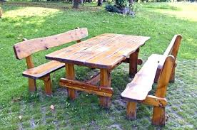 round wood picnic table wooden picnic tables round wooden picnic tables attached benches by wooden picnic