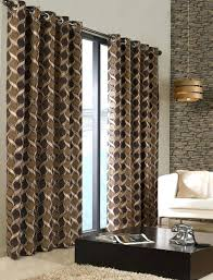 Brown Patterned Curtains