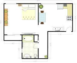 Studio Floor Plan Drawing Room Plants