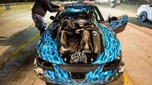 Crazy Paint Jobs 1600hp Nitrous Mustang Insane Paint Job Youtube