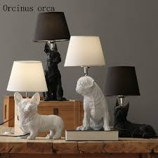 perfect design animal table lamp nordic denmark retro dog table lamp living room bedroom bedside