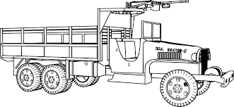 gmc 6 6 military truck coloring page army pages