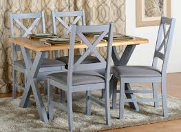 portland dining table set in blue grey furniture co craigslist