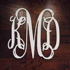 wooden monogram by woodenletters com