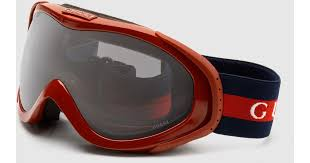 gucci goggles. gucci ski goggles with logo and signature web detail in orange for men | lyst a