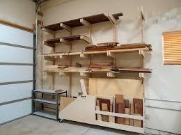 Diy Garage Shelf How To Make Wooden Shelves For A Garage With Wood  Materials Wall Shelf
