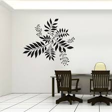 cool wall decals flower feature wall art decals coolwalldecals blackleaveschair table on wall art decals australia with cool wall decals flower feature wall art decals coolwalldecals