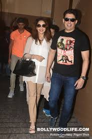madhuri dixit and sriram nene step out for a date