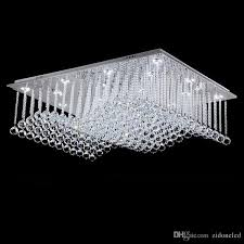 modern crystal ceiling lights rectangle wave crystal ceiling light fixtures surface mounted loyer led ceiling lamp