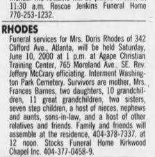 DORIS RHODES - Newspapers.com
