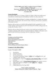 Medical Billing Specialist Resume Objective Medical Billing And