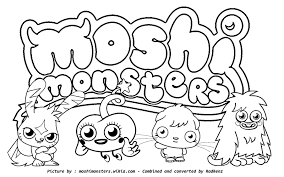Premium Christmas Moshi Monster Coloring Pages Printable Coloring