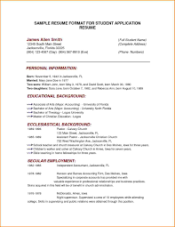 7 Resume Form For Students Skills Based How To Write A Student