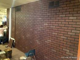 faux brick wall panels lowes