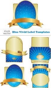 Label Design Templates Blue Vivid Label Design Elements Vector Free Download