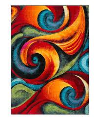 love this product orange blue susan contemporary area rug
