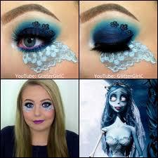 corpse bride makeup look