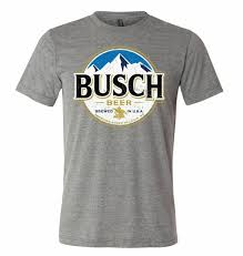 Funny Bud Light Shirts Details About Brew City Beer Gear Busch Light Full Logo Short Sleeve T Shirt