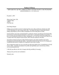 Film Production Assistant Cover Letter Production Assistant Cover Letter No Experience