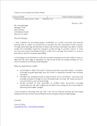 Finance Or Accounting Cover Letter Sample Templates At