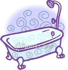 shower tub clipart. Bathtub With A Shower Attachment - Royalty Free Clipart Picture Tub