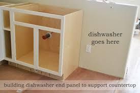 dishwasher end panel
